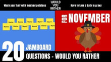 Load image into Gallery viewer, November Would You Rather JamBoard
