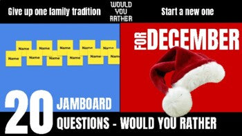 December Would You Rather JamBoard