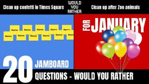 January Would You Rather JamBoard