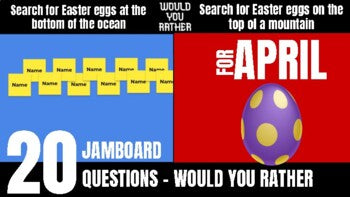 April Would You Rather JamBoard