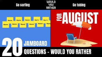 August Would You Rather JamBoard