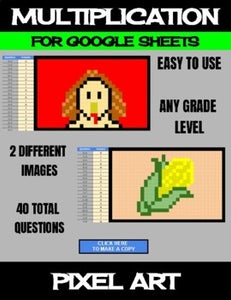Thanksgiving - Digital Pixel Art, Magic Reveal - MULTIPLICATION - Google Sheets