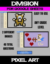 Load image into Gallery viewer, Valentine's Day - Digital Pixel Art, Magic Reveal - DIVISION - Google Sheets