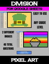 Load image into Gallery viewer, St. Patrick's Day - Digital Pixel Art, Magic Reveal - DIVISION - Google Sheets