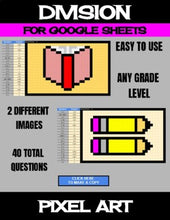 Load image into Gallery viewer, Back To School - Digital Pixel Art, Magic Reveal - DIVISION - Google Sheets