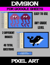 Load image into Gallery viewer, Ocean Animals - Digital Pixel Art, Magic Reveal - DIVISION - Google Sheets