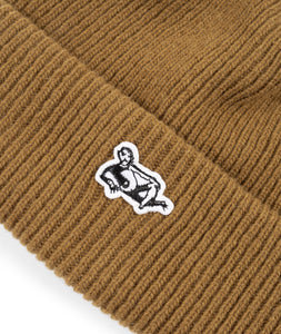 Dancer Lie Logo Beanie Mustard