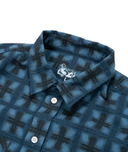 Load image into Gallery viewer, Dancer Flannel Shirt Blue