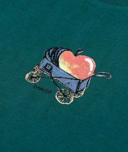 Dancer Baby Apple Tee Dark Teal
