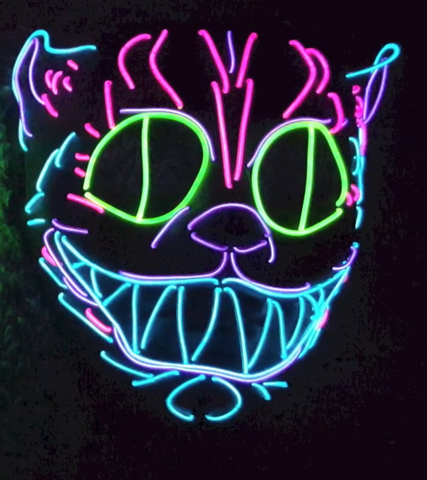 Cheshire Cat EL Wire Mask