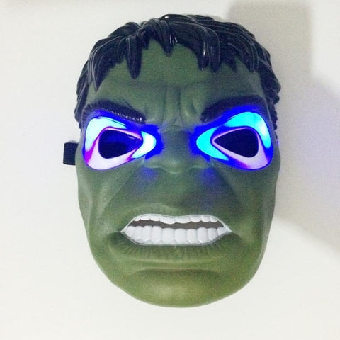 Halloween Party Supplies Glowing LED Superhero Mask
