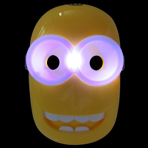 Halloween Party Supplies Glowing LED Minion Mask