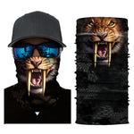 Multiway Outdoor Bandana Men Women 3D Animal Printing Climbing Hiking Cycling Skiing Fishing Windproof UV Protection Bandana V07