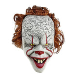 Stephen King's It Mask Pennywise Horror Clown Joker Mask Clown Mask Halloween Cosplay Costume Props