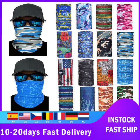2pc Outdoor Hiking Bandana Scarves Riding Camping Climbing Scarf Men Women Headwear Decorations Cover For Neck Bandanas Fashion