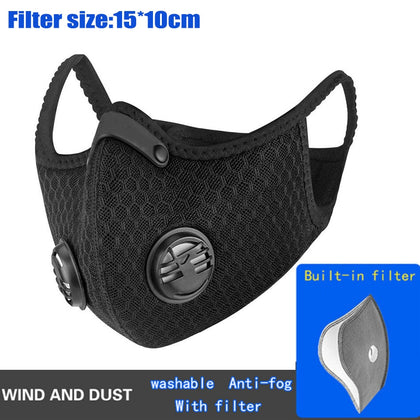 1-10pcs Pro Mask With 5lays Filter Protective Activated Carbon Anti-Pollution Sport Training Bike