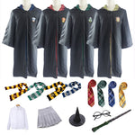 Potter Cloak Costume Cosplay Cloak With Tie Scarf Wand Dress Skirt