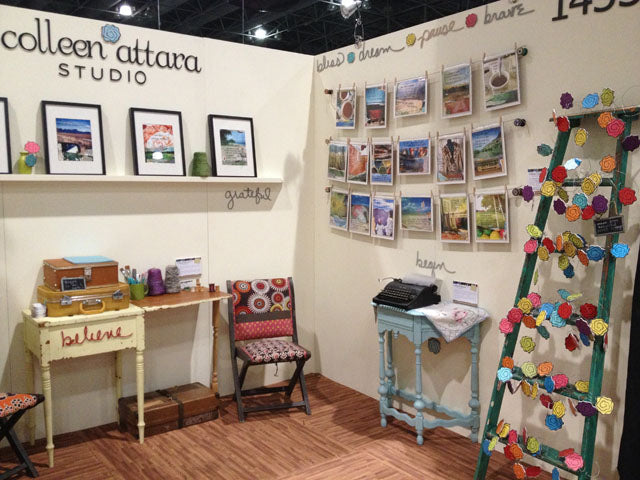 Corner of my booth at NSS 2014...