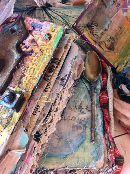 A Long Spring Weekend at my Cottage Studio: Uncovering the Layers, May 20th-May 23rd, 2021