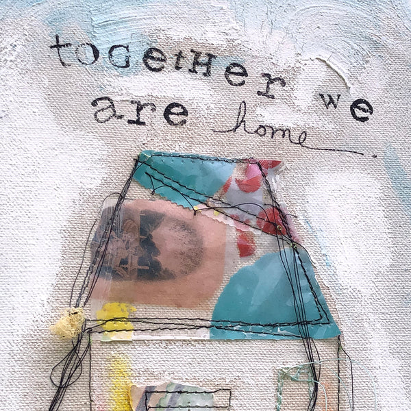 Together We Are Home Shadow Threads Canvas