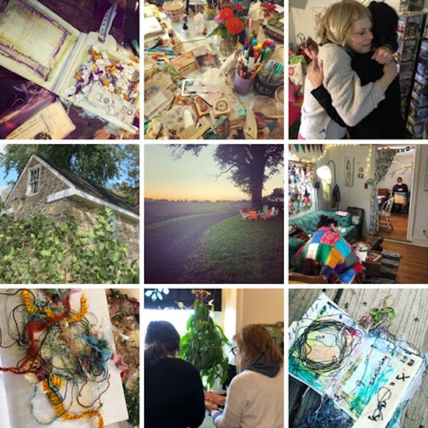 A Long Fall Weekend at my Cottage Studio: Uncovering the Layers, October 1st-4th