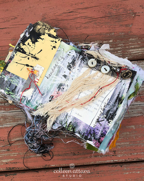 Working Small: Creating a Vision Board on Altered Pages, Aug. 3rd