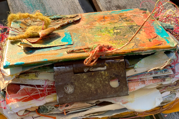 Making Your Word of the Year Visible Through Mixed Media and Altered Book Pages, Jan. 26th, 2020