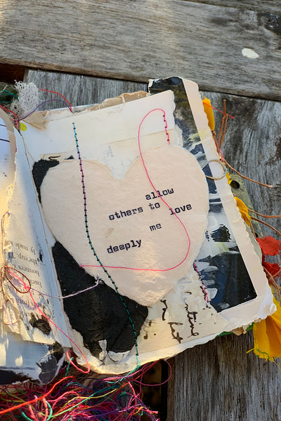 Making Your Word of the Year Visible Through Mixed Media and Altered Book Pages, Jan. 26th