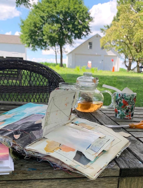 Fresh Air & Ephemera: A Spring Day at my Studio, Monday, May 3rd, 2021