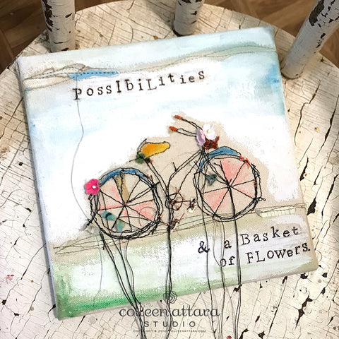 Trailing Bicycle Canvas