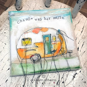 Trailing Camper Canvas