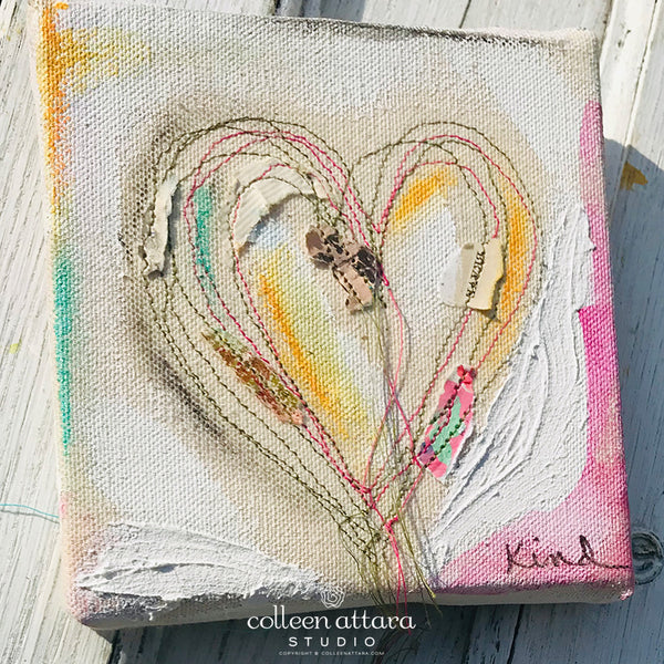 Trailing Heart Shadow Threads Canvas
