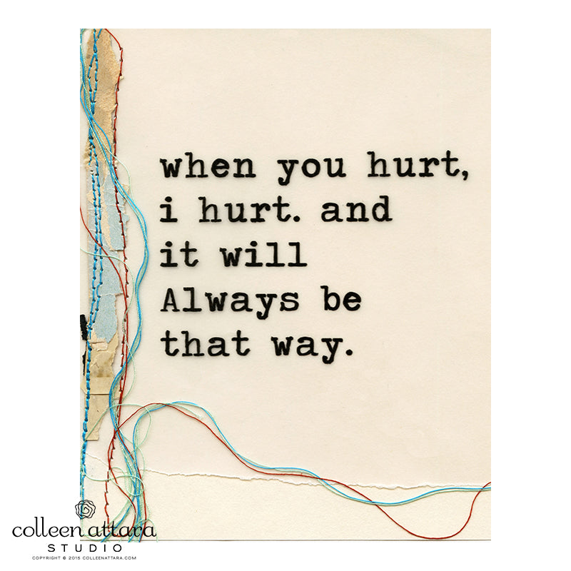 Just the Words: When You Hurt