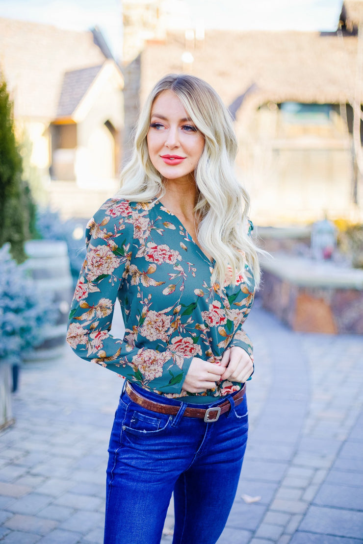 Antique Floral Bodysuit