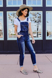 Under Siege Overalls In Dark Wash - KanCan