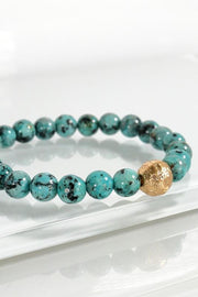 Touch Of Gold Stone Bracelet In Turquoise