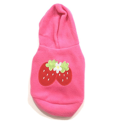 Ruffstyles Strawberry Pet Hoodie