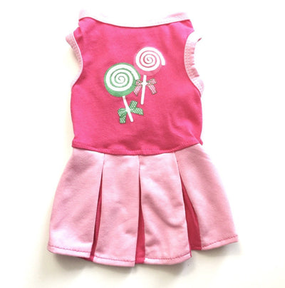 Ruffstyles Pink Lollipop Pet Dress