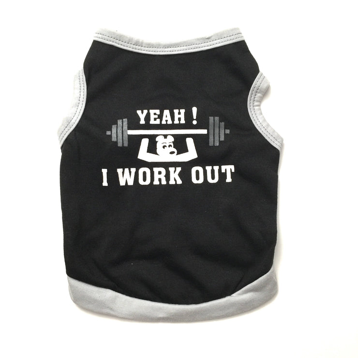 "Ruffstyles ""YEAH! I WORK OUT"" Pet Shirt"