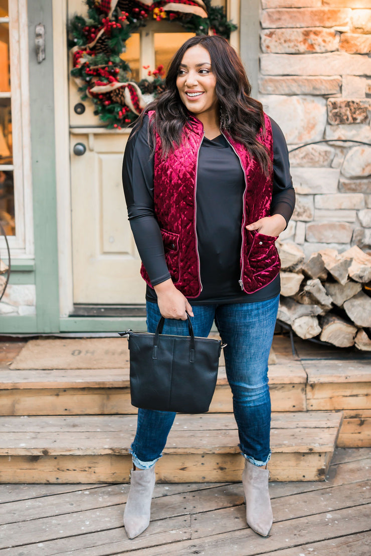 Velvet Luxury Quilted Vest