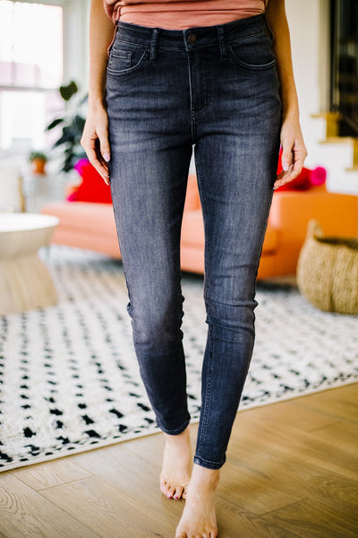 Black Gold High Waist Jeans - Judy Blue
