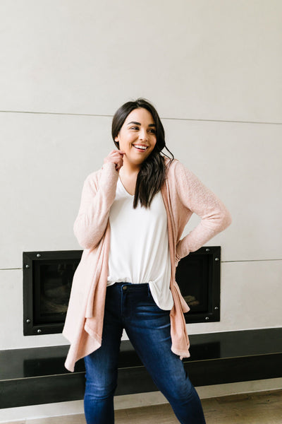 Blakely Blush Hooded Cardigan