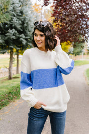 Blue Horizons Color Block Sweater