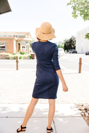 Button Up Asymmetrical Hem Dress