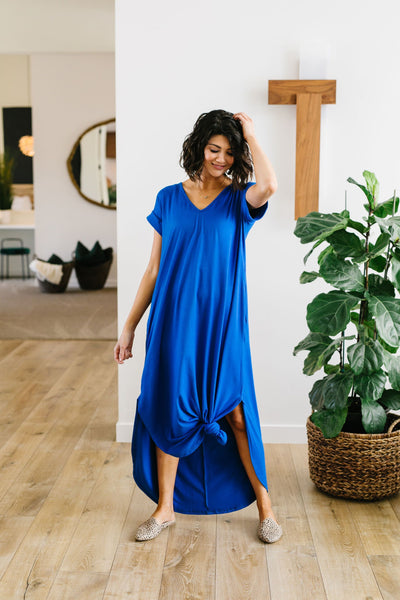 Free And Easy Maxi Dress In Royal Blue