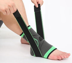 DurablePro™ Ankle Compression Sleeve - Adjustable Stabilizer Straps - EcoBraces®