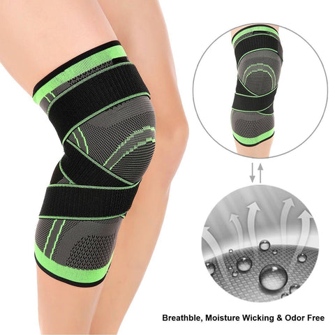 Knee Sleeves Brace with Patella Stabilizer Straps - EcoBraces®