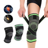 Image of Knee Compression Sleeve Brace Deluxe with Patella Stabilizer Straps for Fitness, Running, Cycling, Basketball Knee Support Elastic Nylon Compression Pad - EcoBraces®