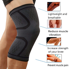 Compression Knee Sleeve - Brace Patella Stabilizer Support (1 Piece)
