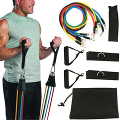 Resistance Bands Set - Premium Exercise Training Bands For A Full Body Fitness Home Gym 11pc/set